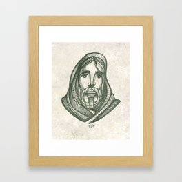 Jesus Christ Face illustration Framed Art Print