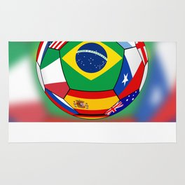 Ball With Various Flags Rug