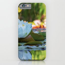 Water Water Lilies on Summer Pond iPhone Case