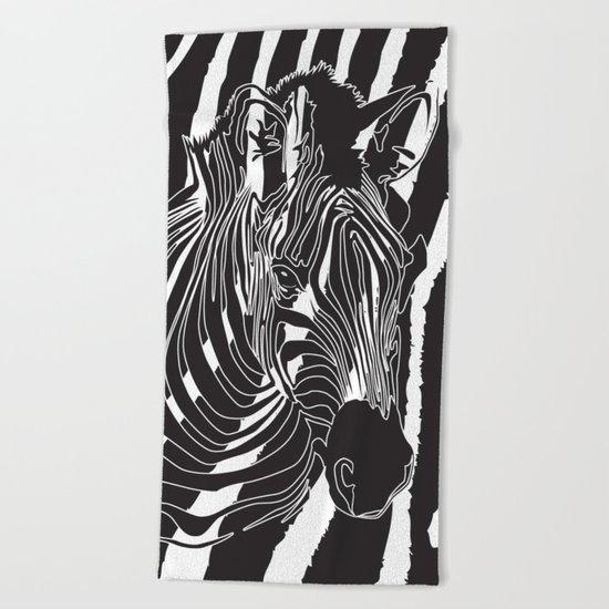 Zebra - Optical Art 5 Beach Towel