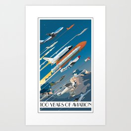 100 Years of Aviation Art Print