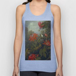 Hummingbird and Passionflowers Unisex Tank Top