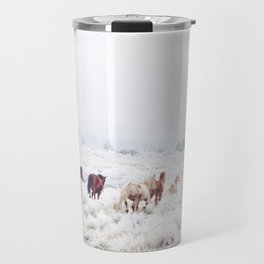 Winter Horses Travel Mug