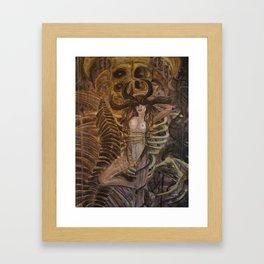 Skeleton Machine Framed Art Print