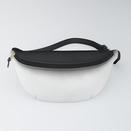 Black and White Split Fade Inverse Fanny Pack