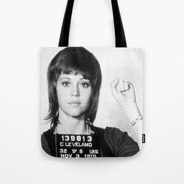Jane Fonda Mug Shot Vertical Tote Bag