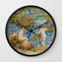 """Auguste Renoir """"Garçons nus dans les rochers à Guernsey"""" Wall Clock"""