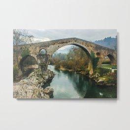 Asturias Roman Bridge Metal Print