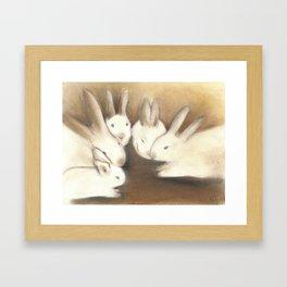 A Conspiracy of Rabbits Framed Art Print