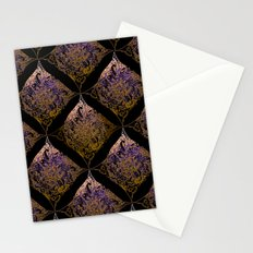 Detailed diamond, bordeaux glow Stationery Cards