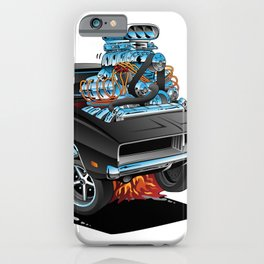 Classic 69 American Muscle Car Cartoon iPhone Case