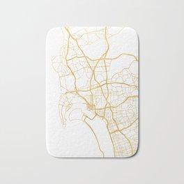 SAN DIEGO CALIFORNIA CITY STREET MAP ART Bath Mat