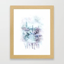 Modern Art CANAL GRANDE   jazzy watercolor Framed Art Print