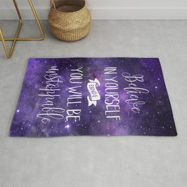 Believe In Yourself Motivational Quote Rug