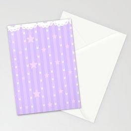 Kawaii Purple Stationery Cards