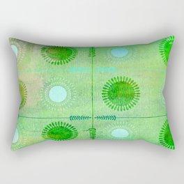 Green Peace Discs of Light Rectangular Pillow