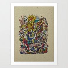 - romantic summer - Art Print