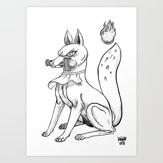Kitsune x Kendama Art Print