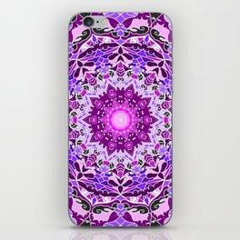 aurora mandala purple iPhone Skin