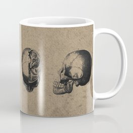 Skull View - Antique Vintage Style Medical Etching Coffee Mug