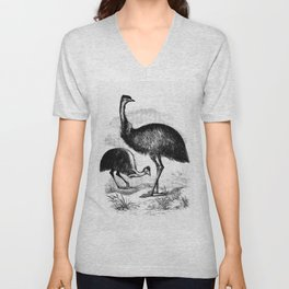 Cassowary from Adventures of a Gold-Digger (1856) Unisex V-Neck