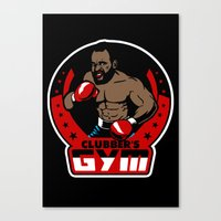 gym Canvas Prints featuring Clubber's Gym by Buby87