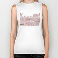 periodic table Biker Tanks featuring Periodic Neighbourhood by Salih Gonenli