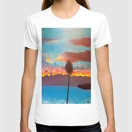 The Beautiful Key West Sun is captured in this ocean sunset painting T-shirt