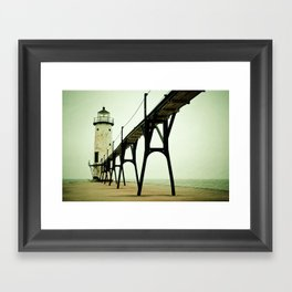 Manistee Light Framed Art Print
