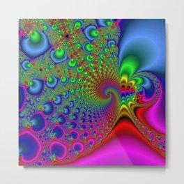 Rainbow Drain Metal Print