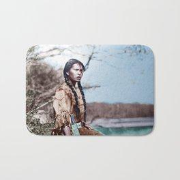 Native Girl Bath Mat
