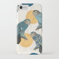 mandie manzano iPhone & iPod Cases featuring Night Owl Polka by Paula Belle Flores