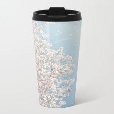 Cherry Blossom Tree Metal Travel Mug
