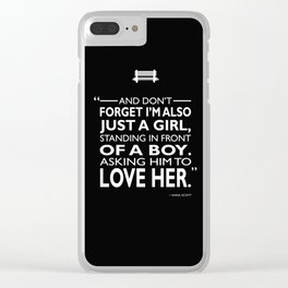 Standing In Front Of A Boy Clear iPhone Case