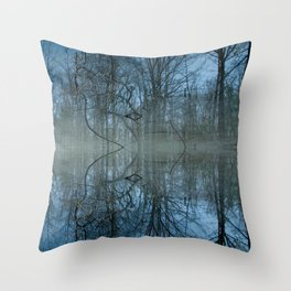 Deep Cool Blue Throw Pillow