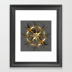 Earth Brown Insect Framed Art Print