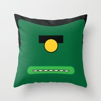 cyclops Throw Pillows featuring Cyclops by Visual Heist