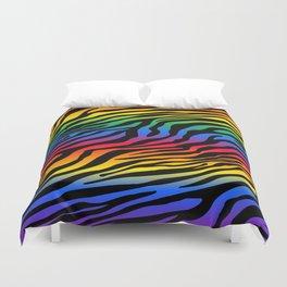 Zazzy Zebras - Rainbow Duvet Cover