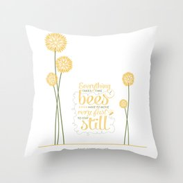 David Foster Wallace on Bees  Throw Pillow