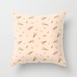 Cephalopods on Blush 1 Throw Pillow