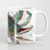 crab Mugs featuring Crab by LEIGH ANNE BRADER