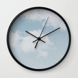 summer clouds Wall Clock