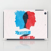 fight iPad Cases featuring Fight Club by Bill Pyle