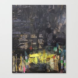 Black and yellow collage Canvas Print