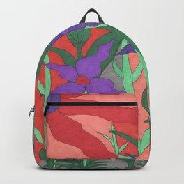 Twilight Sun Garden Floral Art Backpack