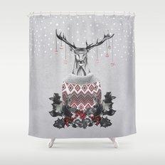 Christmas Deer (by Mariam & Nika) Shower Curtain