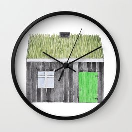 Traditional Faroese House Wall Clock