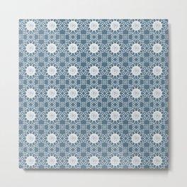Doily - slate blue Metal Print