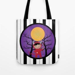 Kid in devil costume Tote Bag
