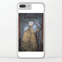 Greg Grey Clear iPhone Case